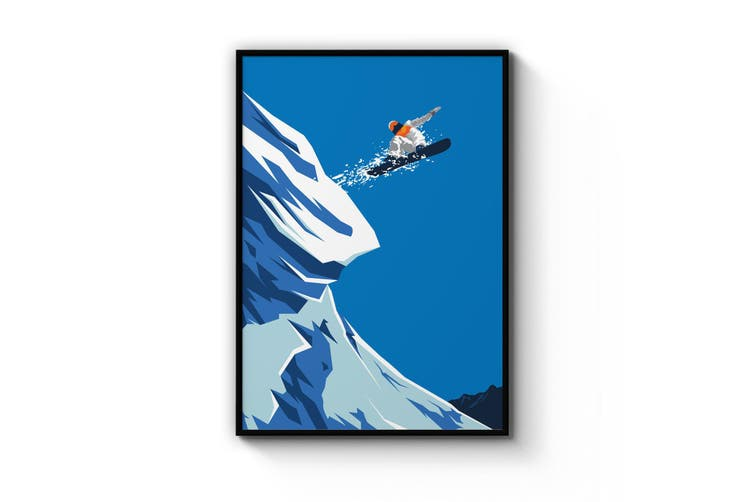 Retro Snowboard Wall Art