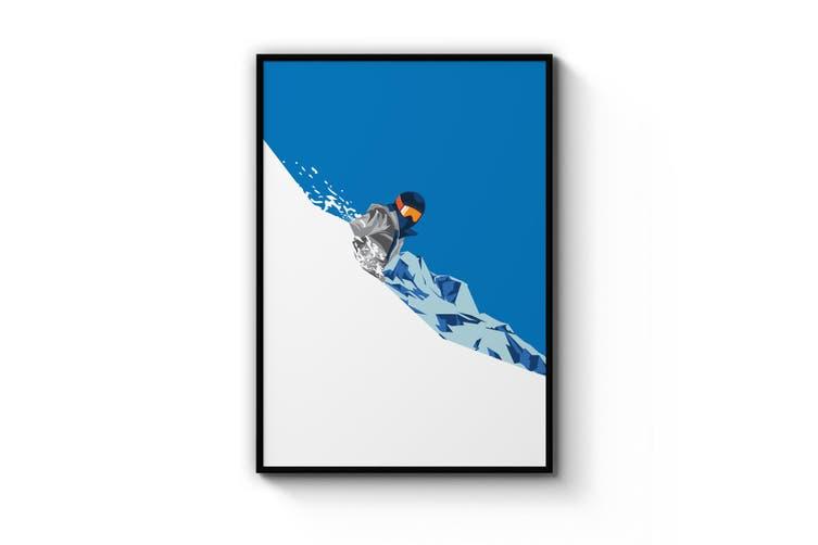 Retro Ski Winter Vintage Snow Cabin Wall Art