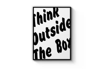 Think Outside The Box Quote Wall Art