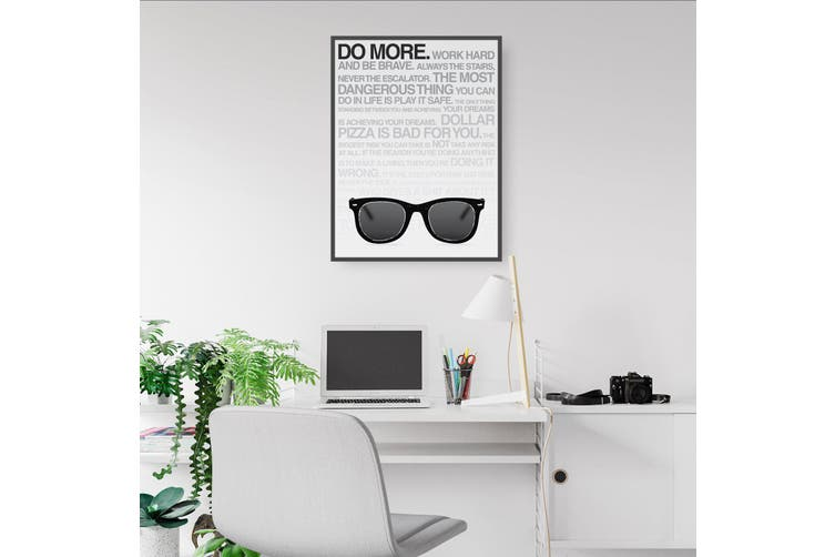 """Do More"" Work Office Motivational Quote Wall Art"