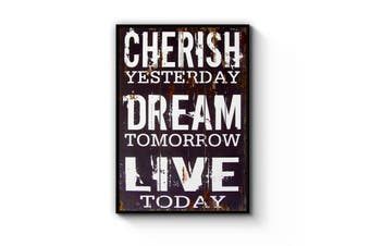 """Cherish Yesterday"" Quote Wall Art"