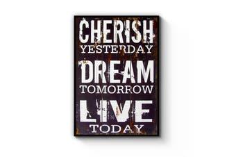 """""""Cherish Yesterday"""" Quote Wall Art"""