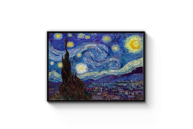 Starry Night by Vincent Van Gogh Painting Wall Art
