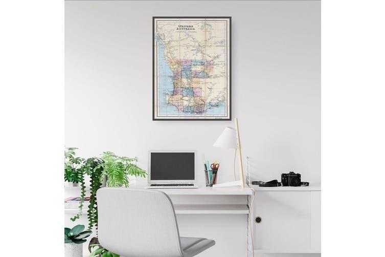 Western Australia Vintage Map Wall Art