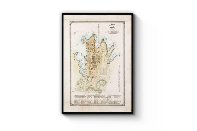Sydney Vintage Map Wall Art