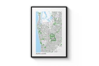 Minimal Adelaide Map Wall Art