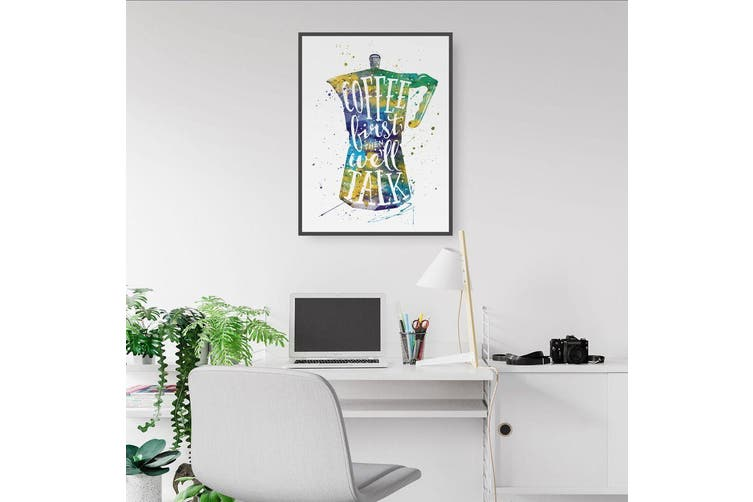 """""""Coffee First"""" Quote Wall Art"""