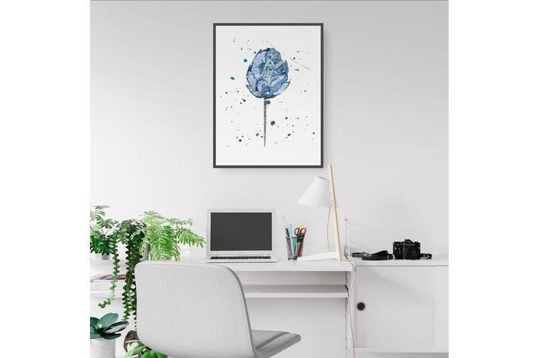 Scandi Blue Flower Wall Art