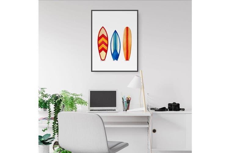 Surfboard Watercolour Wall Art