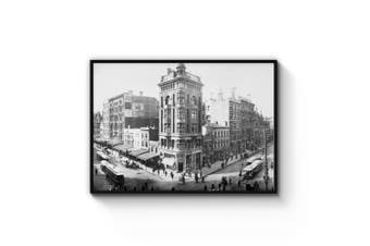 Melbourne Streets Vintage Photograph Wall Art