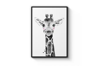 Blushing Baby Giraffe Wall Art
