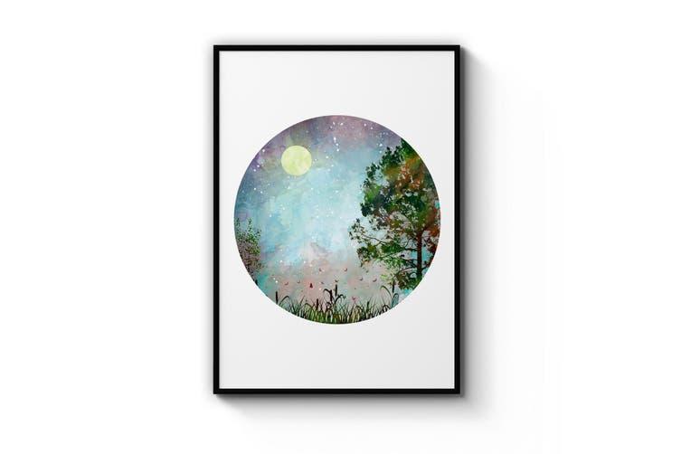 Scandi Circle Landscape Kitchen Minimal Wall Art