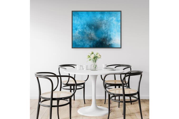 Minimal Blue Painting Abstract Modern Wall Art