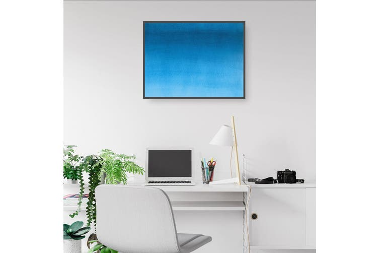 Minimal Blue Painting Abstract Modern Wall Art