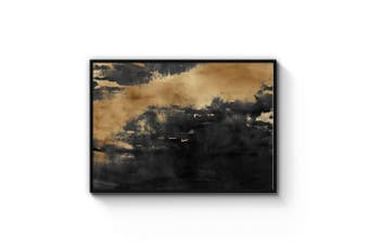 Black and Gold Abstract Wall Art