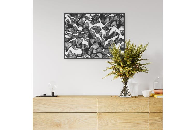 Winter Logging Abstract Photograph Wall Art