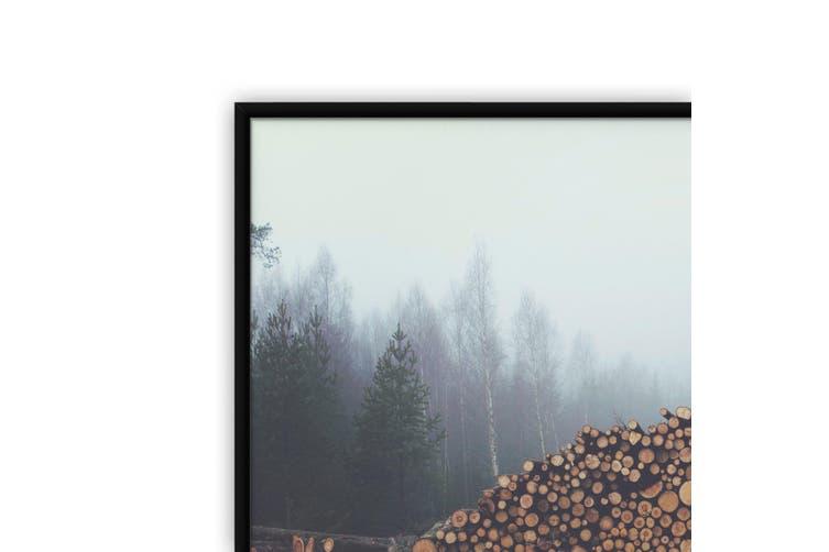 Sad Trees Wood Piles Photograph Wall Art