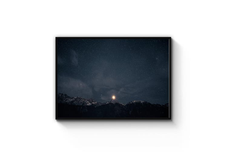 Starry Mountains Night Photograph Wall Art