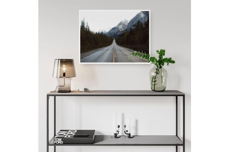 Mountainous Road Landscape Photograph Wall Art