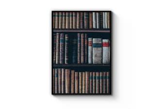 Library Bookshelf Wall Art