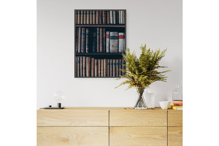 Library Bookshelf Office Photograph Wall Art