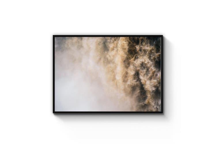 Rugged Waterfall Nature Photograph Wall Art