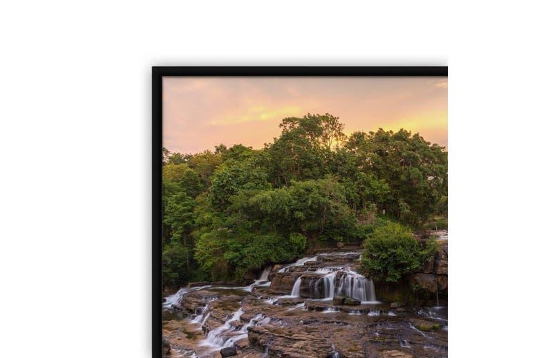Sunset Waterfall Landscape Photograph Wall Art