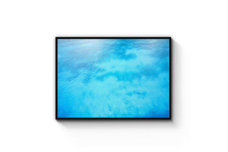 Tropical Waters Retro Coastal Blue Wall Art