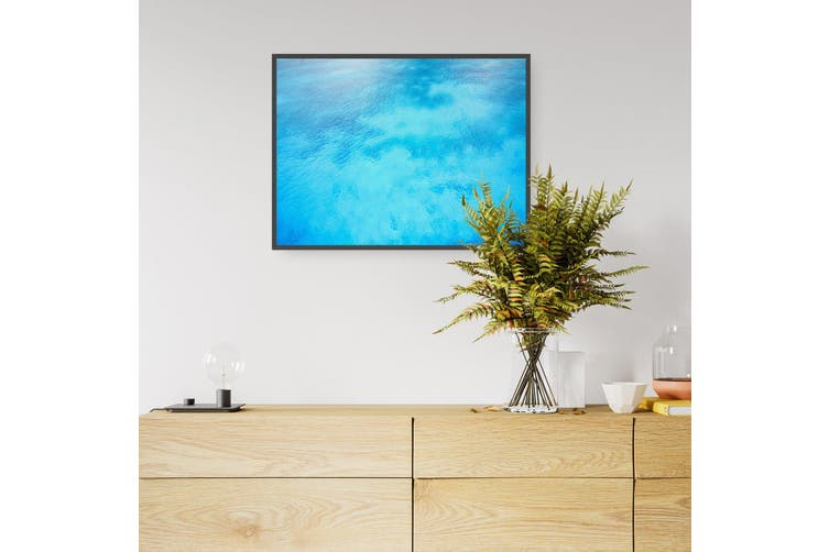 Tropical Waters Retro Coastal Blue Wall Art