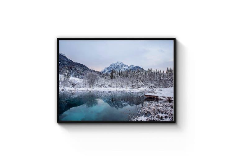 Mountain Lake Landscape Photograph Wall Art