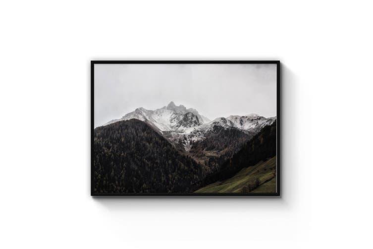Snowy Mountain Landscape Photograph Wall Art