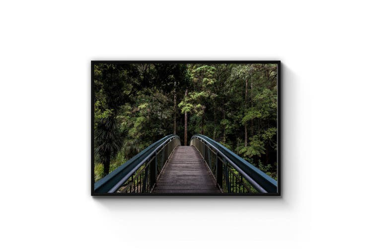Woodland Bridge Landscape Photograph Wall Art