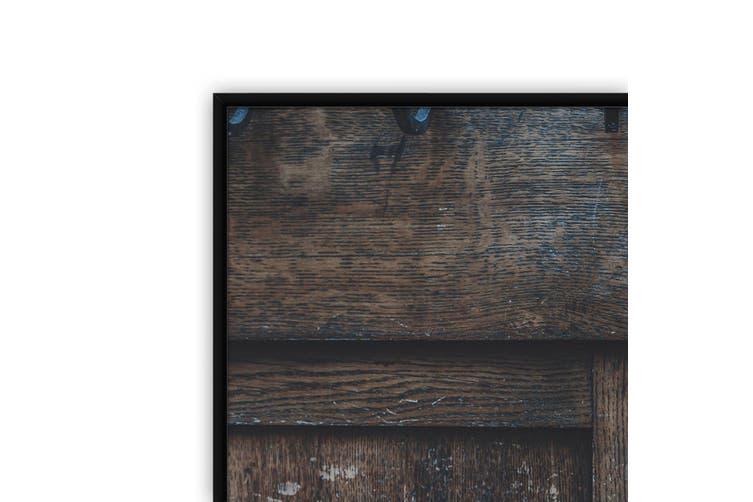 Wooden Door Abstract Photograph Wall Art
