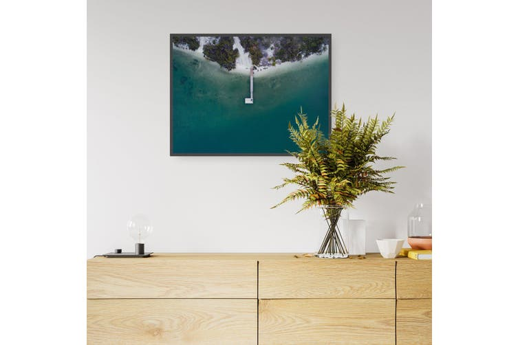 Coastal Pier Beach Photograph Wall Art