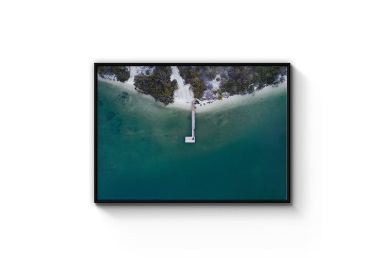 Coastal Pier Beach Photograph Wall Art