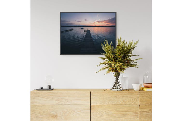 Sunset Pier Coastal Photograph Water Wall Art