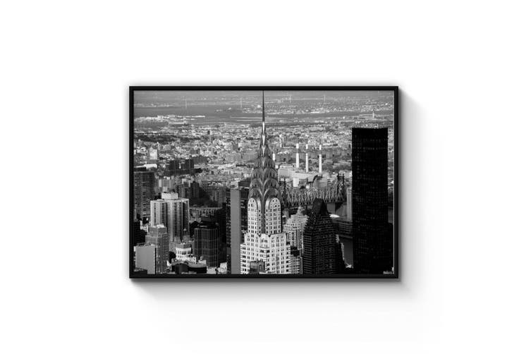 New York City Chrysler Building Black & White Art