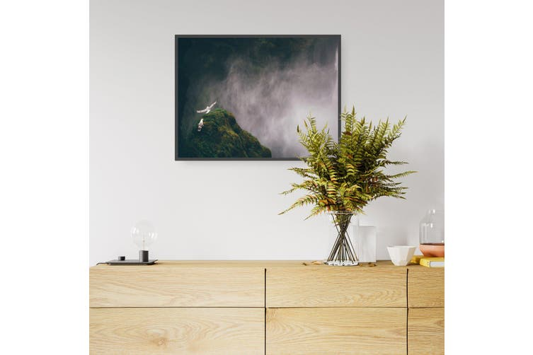 Wild Birds and Waterfall Photograph Wall Art