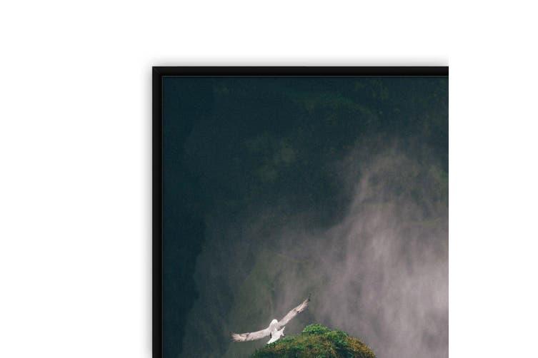 Wild Birds and Waterfall Photograph Wall Art