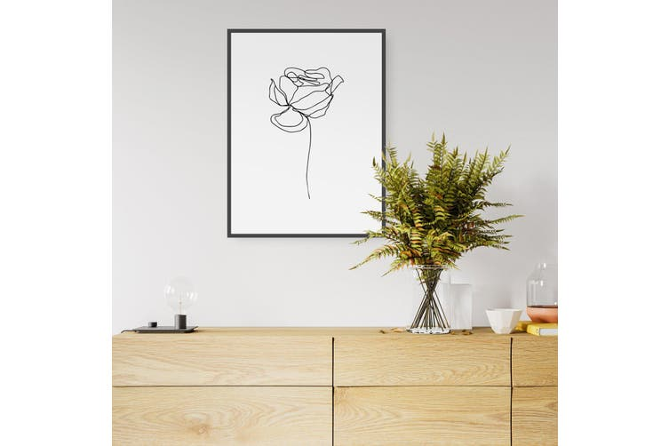 Dick Smith Simple Flower Drawing Wall Art Art Prints