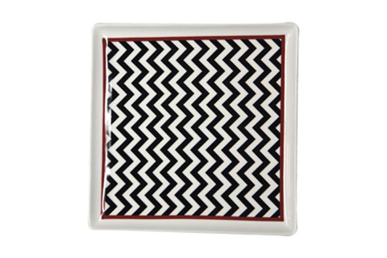 Ciroa Chevron Square Platter 25Cm