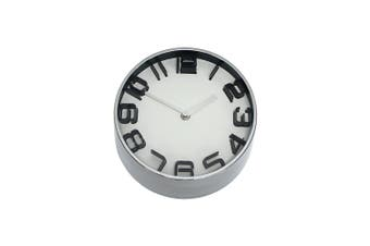 Premium 22Cm Modern Clock Metal In White