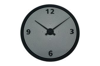 Degree Spin Black Glass Clock 50Cm Glass In Black