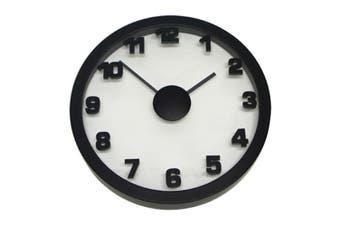 Degree Black Float Clock 50Cm Metal/Glass In Black