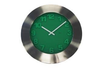 Degree Emerald Green Clock 50Cm Metal In Green