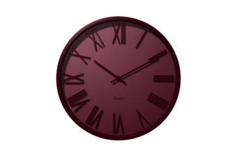 Degree Attic Dawn Clock 40Cm Metal In Red