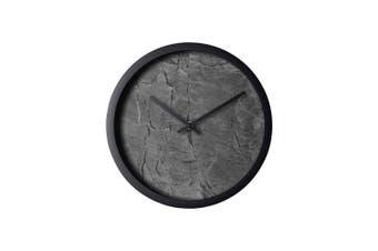Degree Slate Distressed Clock 30Cm Plastic In Black