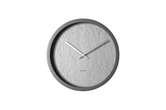 Degree Concrete Clock 30Cm Plastic In Grey