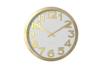 Degree Stelton Gold Clock 40Cm Metal In Gold