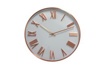 Degree Attic Dusk Clock 40Cm Metal In Copper